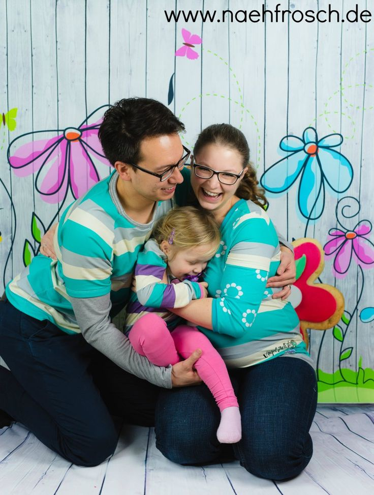 Nähfrosch Familienoutfit Kuschelfreunde Blockstreifen Sweat von Astrokatze in m…