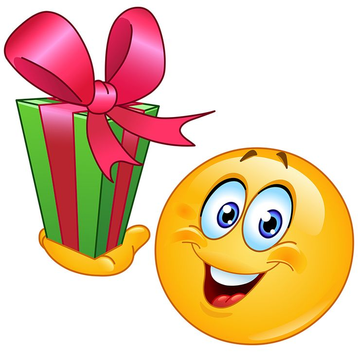 Smiley with a Gift