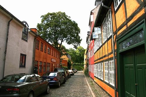 Street on Christianshavn, Copenhagen