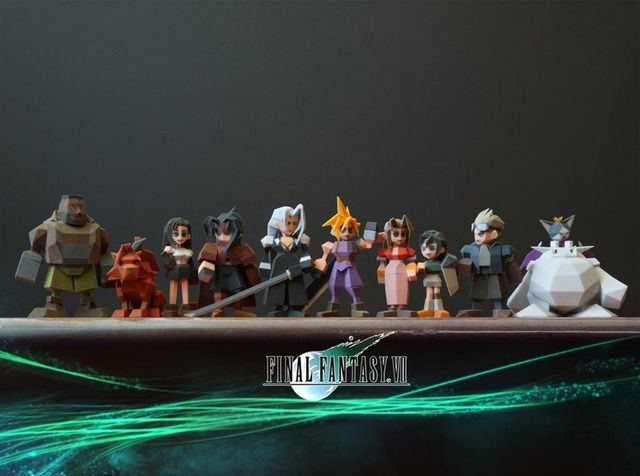 FINAL FANTASY VII characters made by 3D printer