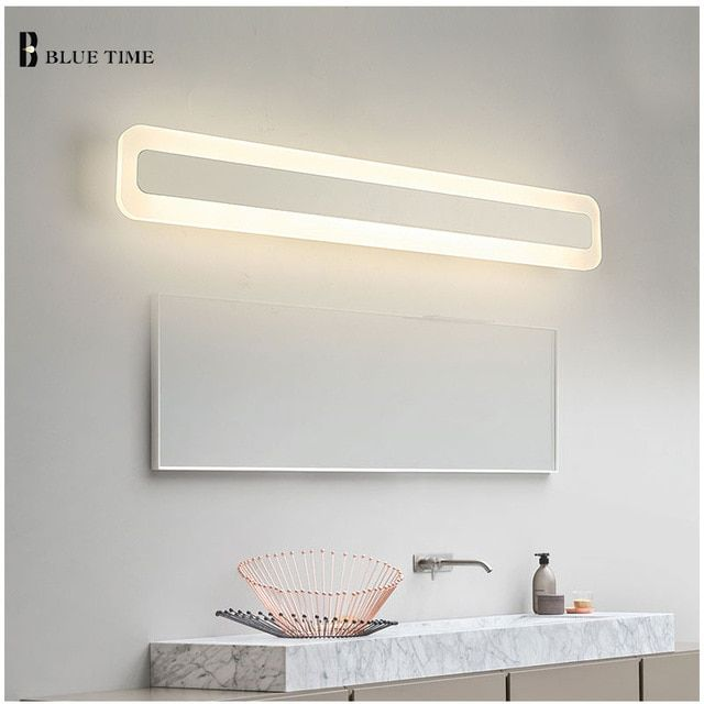 Acrylic Bathroom Mirror Front Light Led Wall Lamp Modern For