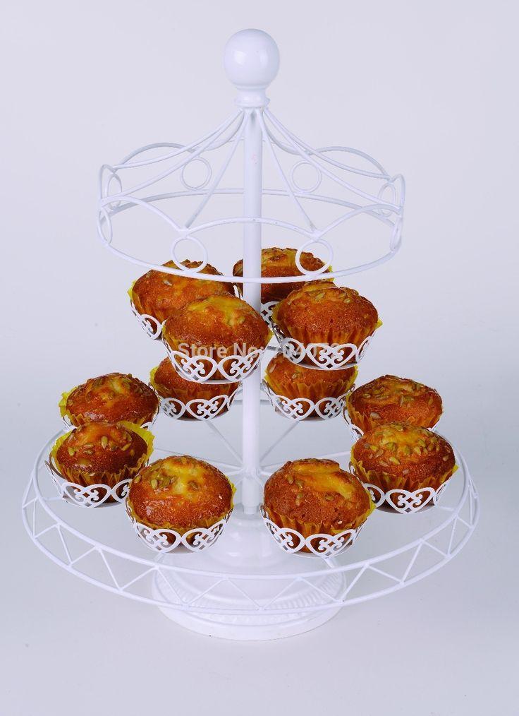Ограниченной 1 комплект 12 чашки железо кекс стойка день рождения отель торт украшение свадьба башни вал Dressert купить на AliExpress