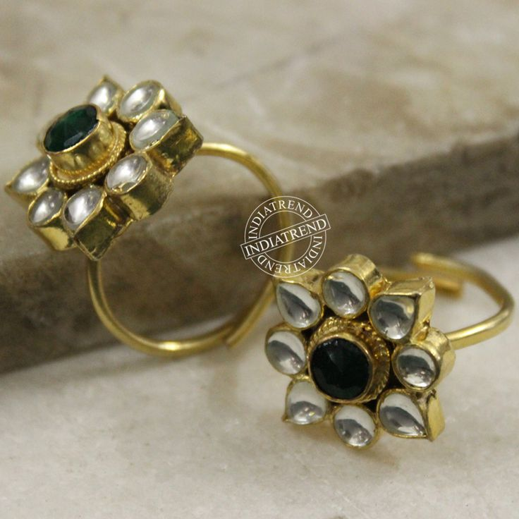 Bhavika Toe Rings by Indiatrend. Shop Now at WWW.INDIATRENDSHOP.COM