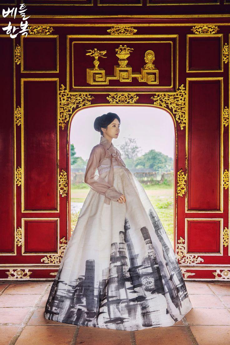 Korean traditional clothes. #dress #lady #picture #vietnam 한복을 하나의 작품으로 탄생시킨 디자인한복이랍니다.
