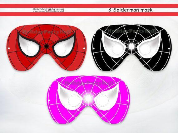 Spiderman Half Mask Template