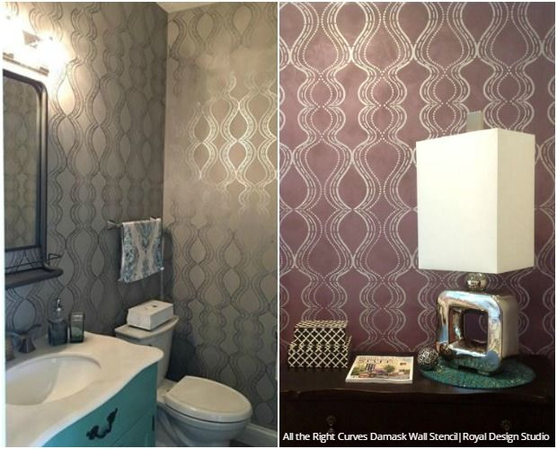 199 Best Modern Wall Stencils Images On Pinterest | Wall Stenciling, Royal  Design And Design Studios