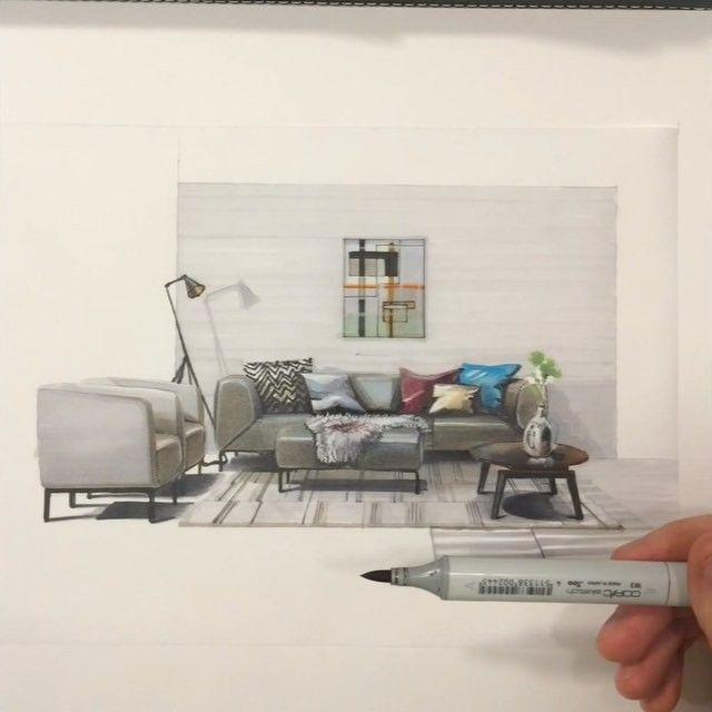 Закончен очередной ролик 🎬 #sketch 📝 мягкой мебели компании #RolfBenz