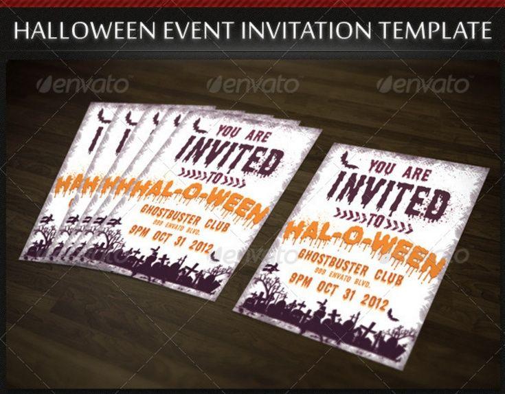19 best Halloween Flyers images on Pinterest Flyer template - halloween invitation template