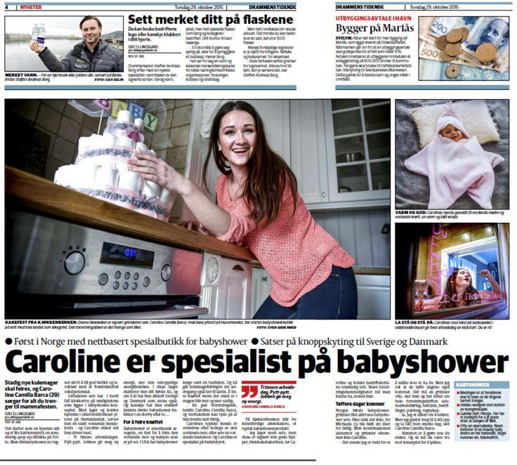 www.dinbabyshower.no her fra avisen Dt 2015. Er det noe vi kan, er det baby shower :)