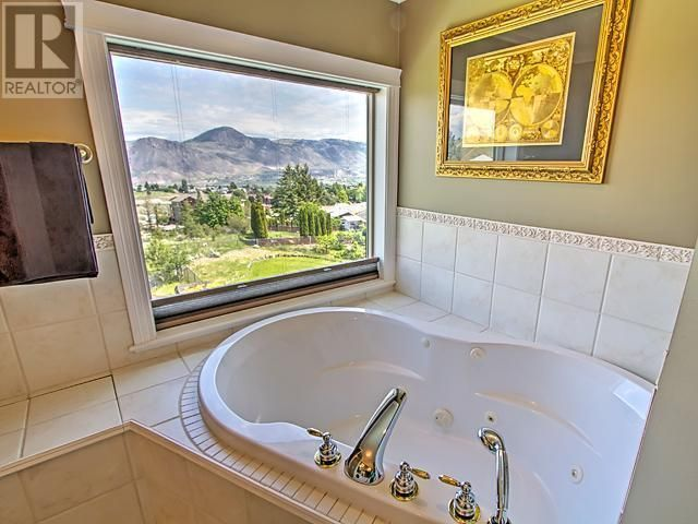 Large soaker tub with a view!
