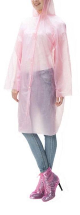Plastic Ponchos Disposable Rain Ponchos/Set Of 2