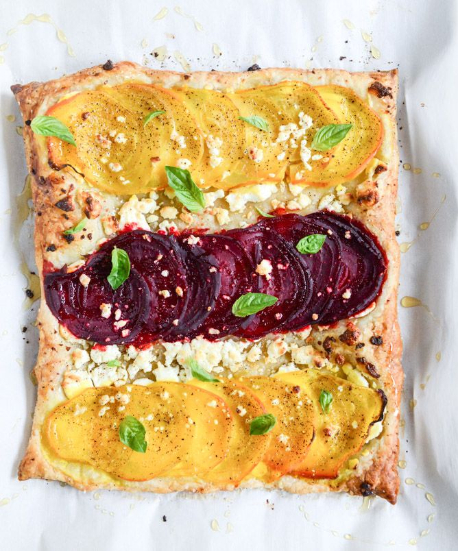 beet, goat cheese & honey tart I howsweeteats.com