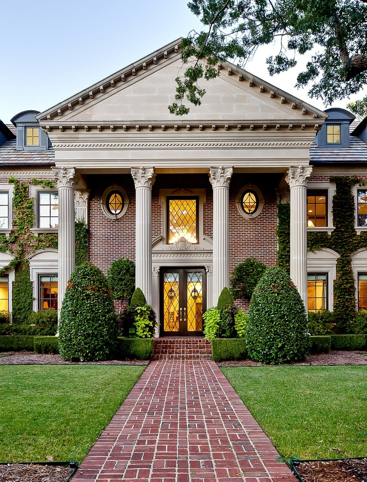56 best images about architectural styles on pinterest for Neoclassical house
