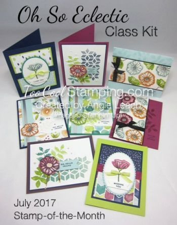 Hi Stamping Friends! It's finally here!  Registration is open for my July Stamp-of-the-Month featuring the Oh So Eclectic stamp set! Wow!  I knew that I liked the images from this stamps set, but I d