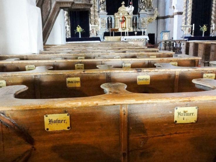 Pews in Frauenwörth Abbey church
