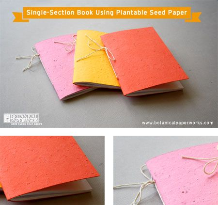 How to make a plantable seed paper book by Botanical Paperworks