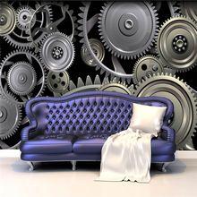 3D Papel Tapiz de Engranajes Personalizada Gran Mural de La Pared del metal Fresco Foto Wallpaper Seda Arte decoración de la Habitación de Techo decoración del Hogar fotografía
