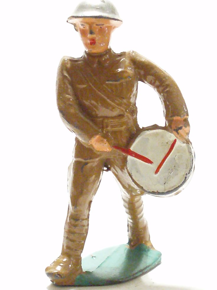 Manoil drummer: Toys Soldiers, Leaded Soldiers, Soldiers Collection, Manoil Soldiers