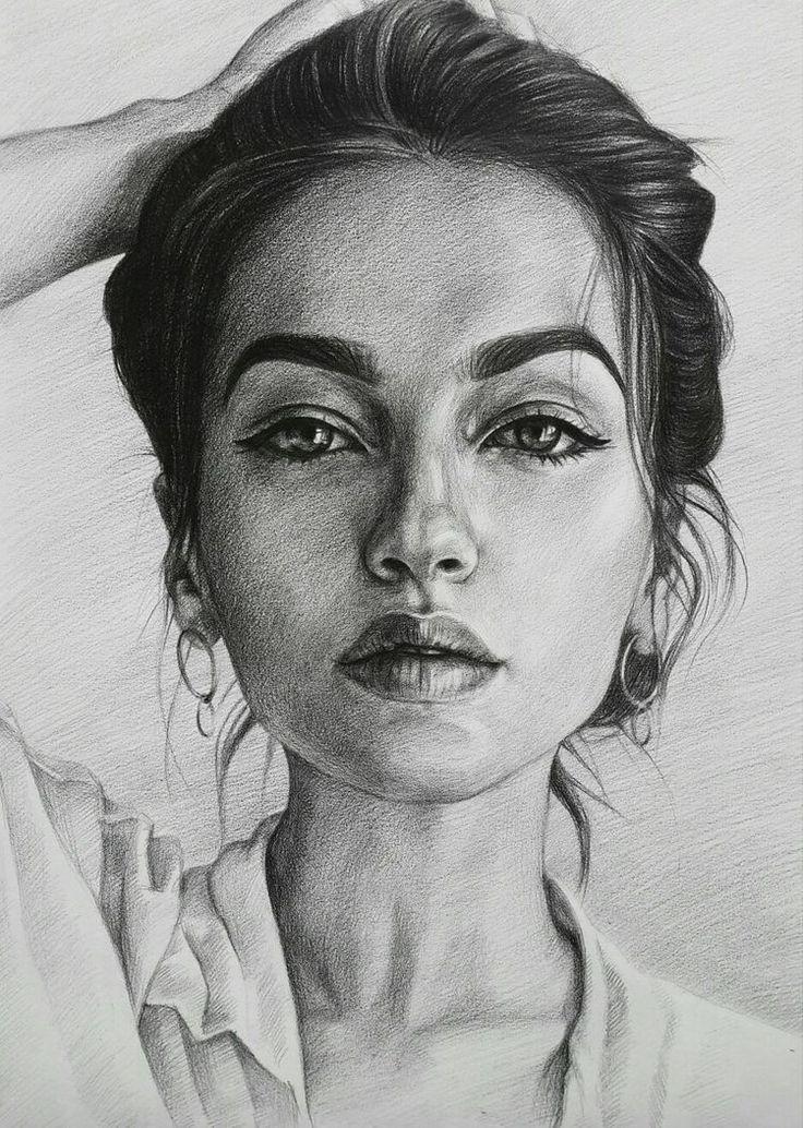 рубрике картинки портретов рисунок карандашом любом интерьере