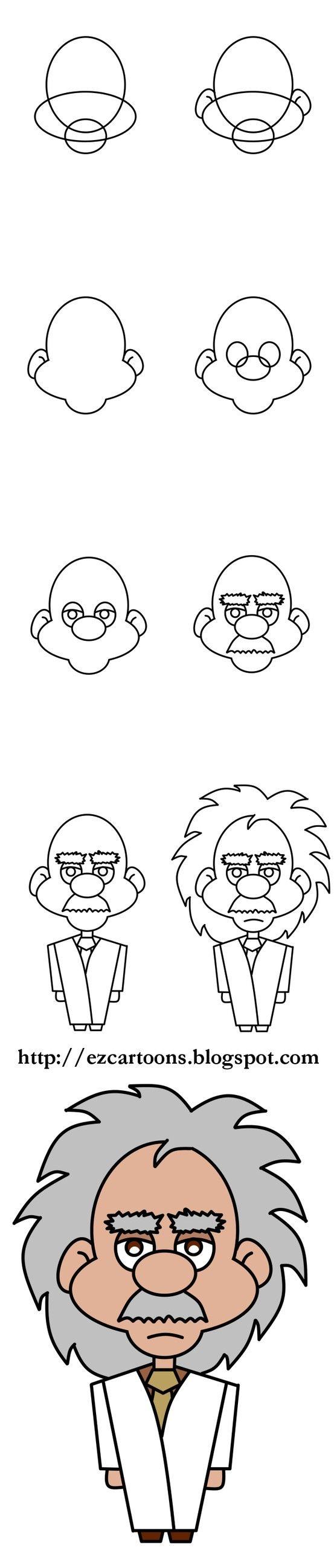 How to Draw Albert Einstein