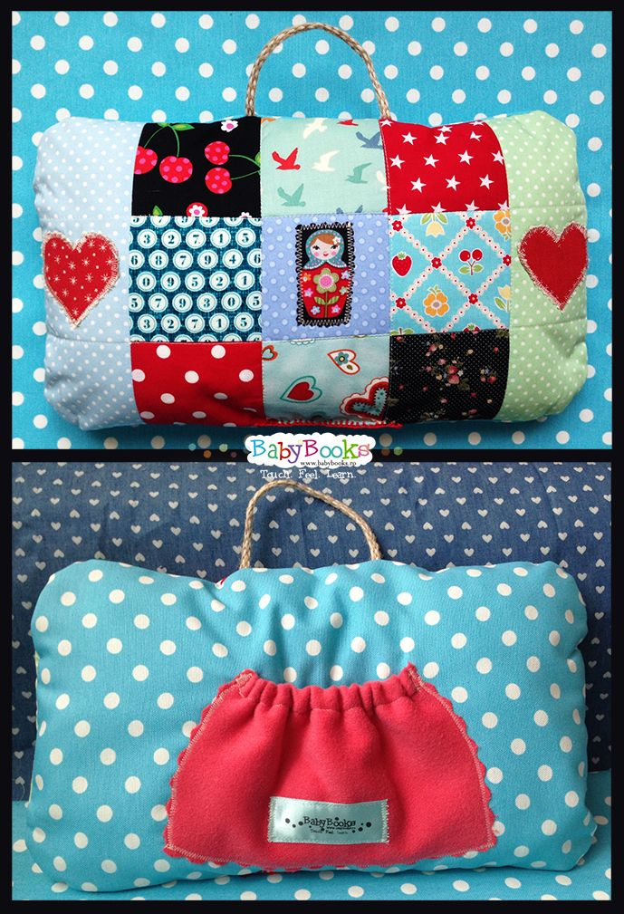 Travelling Pillow for toddlers (combined with Memory Game)