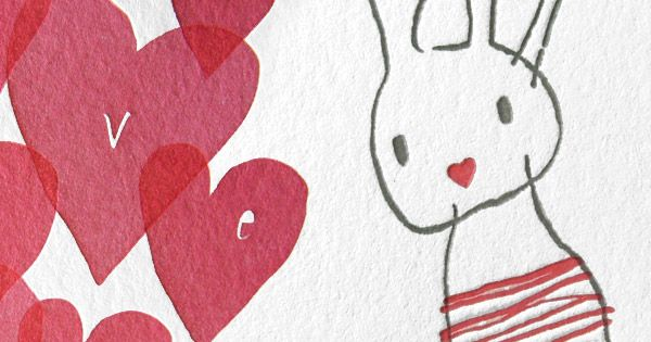 Bunny and Love letterpress cards. #easter_bunny #easter_cards #easter