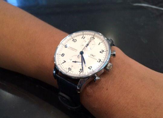 ★YF様/IWC - ポルトギーゼ・クロノグラフ(IW371446) ☆25歳の記念に購入しました!時計に見合うカッコイイ男を目指して頑張っていきます。  〝人生の節目に腕時計を〟
