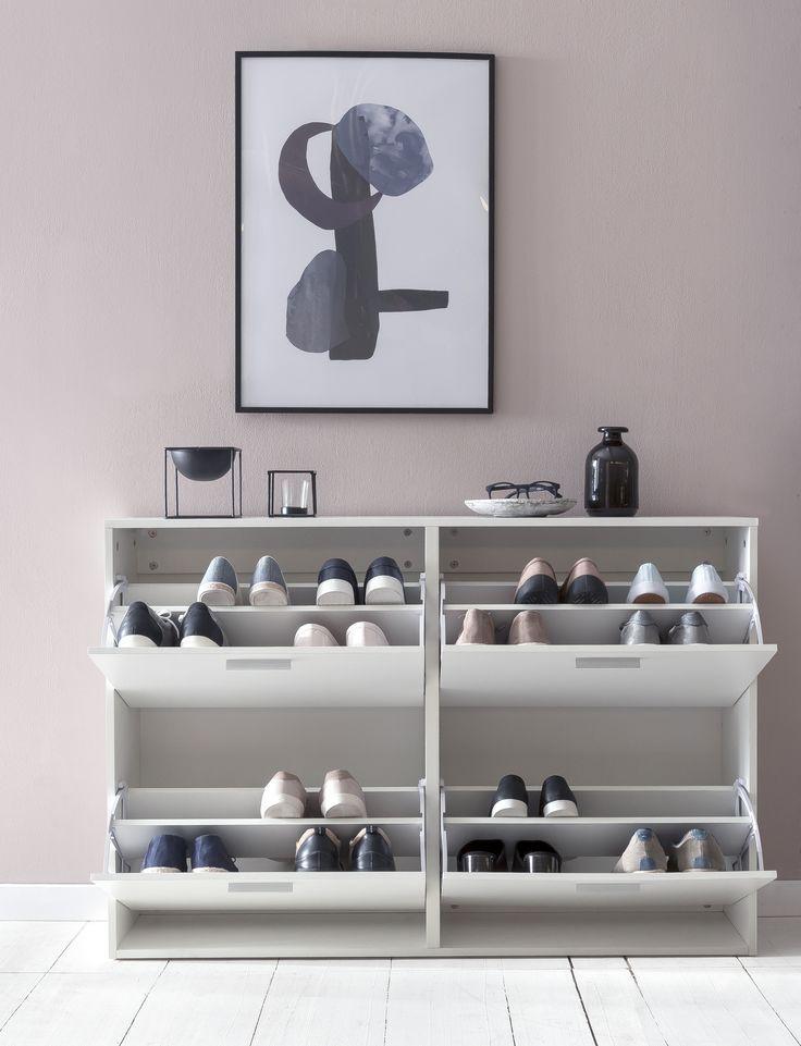 Wohnling Schuhkipper In Weiss Wl5 829 Aus Spanplatte Shoe Tipper Floating Shelves Home Decor Shoe Rack