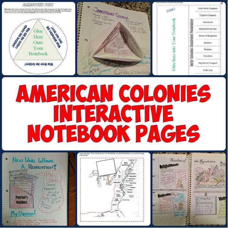 This download features 15 Interactive Notebook pages for American History from the early colonies through the American Revolution. The Interactive Notebook pages include graphic organizers, creative foldables, timelines, and more! These are incredible resources for getting students engaged and active in their learning and allowing them to be creative with their notes.