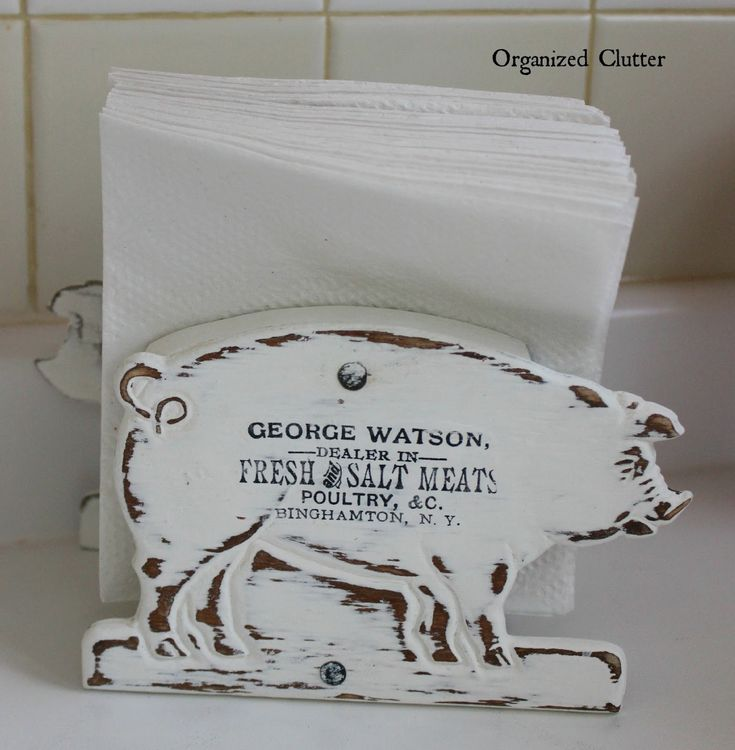 Re-Purposed Mail Organizer Napkin Holder via OrganizedClutter.net  What she did here is amazing!!!!.......k