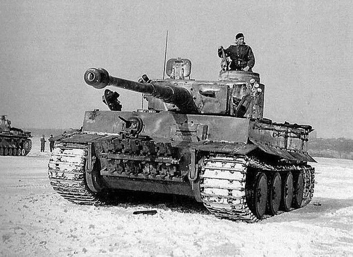 German Heavy tank PzKpfw VI Tiger Ausf H1 & Commander Hauptmann Lange.