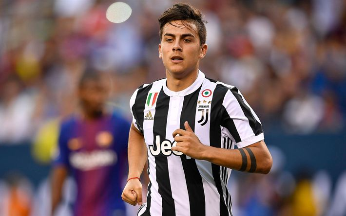 Download wallpapers 4k, Paulo Dybala, Juventus, Serie A, Argentinian football player, new emblem, football, Italy