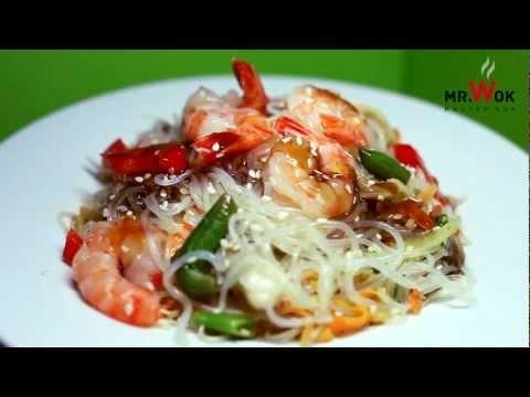 Mr. Wok - Фунчоза, королевские креветки в устричном соусе