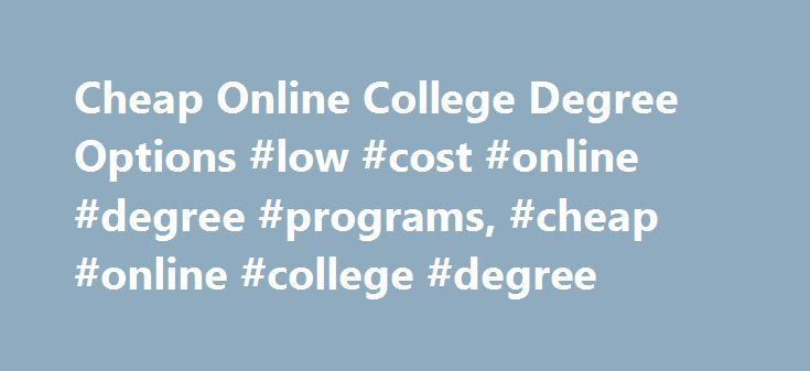 Best online college options