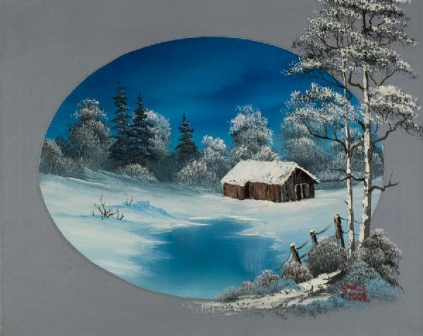bob ross oval barn paintings