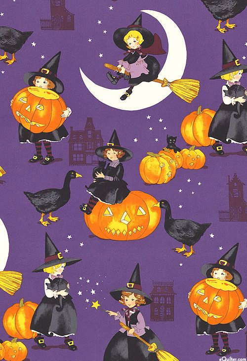 Haunted House Tabitha Witch Quilt Fabrics From Www
