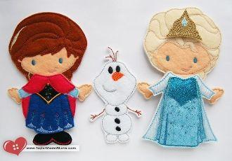 Frozen Inspired Elsa and Anna Felt Paper Doll Companion