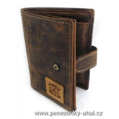 Kožená peněženka pánská s praktickou přezkou