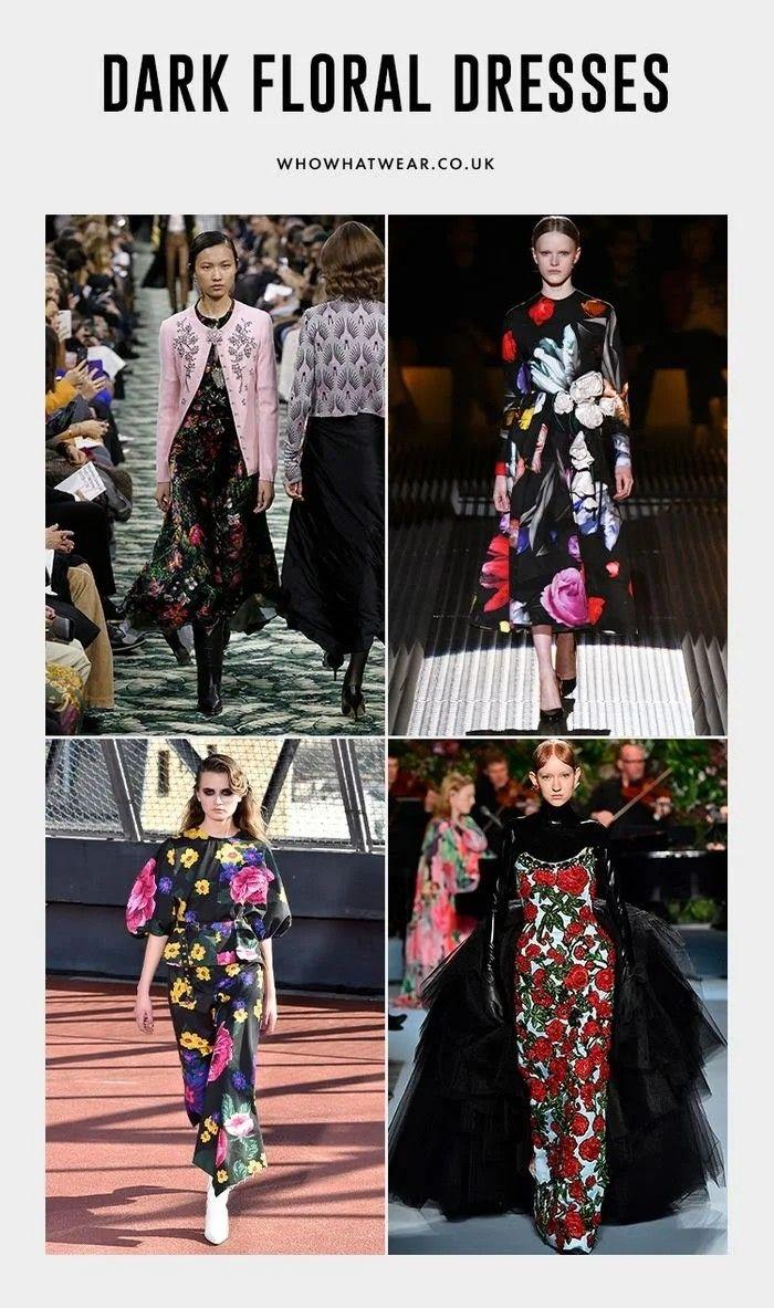 Pin by Nicola Serafino on Style Dark floral dress