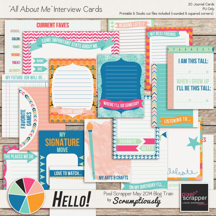 Free Journal Cards {Includes Both Printables and Silhouette Cut Files} from Scrumptiously