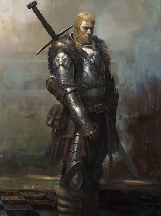Human fighter barbarian | Knights | Fantasy art, Fantasy ...