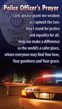 Police Officers Pray.
