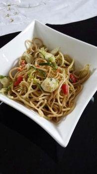 Nouilles sautées cabillaud et légumes croquants : Etape 5