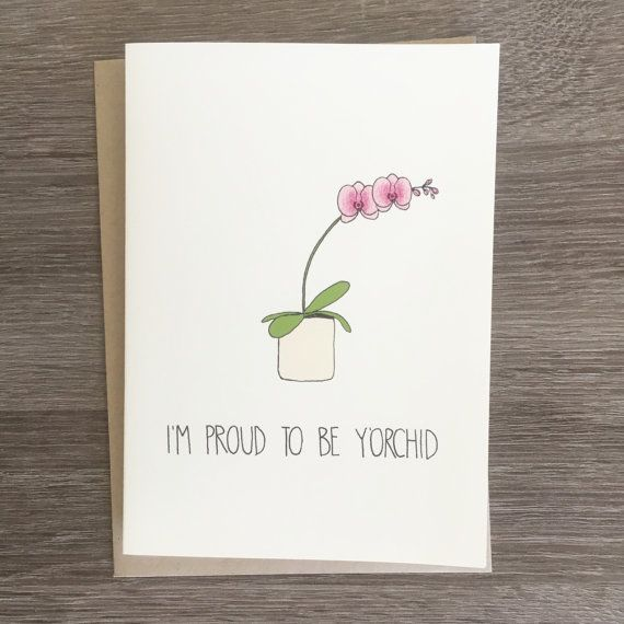 This is what happens when you combine clever flower puns with a sweet sentiment....