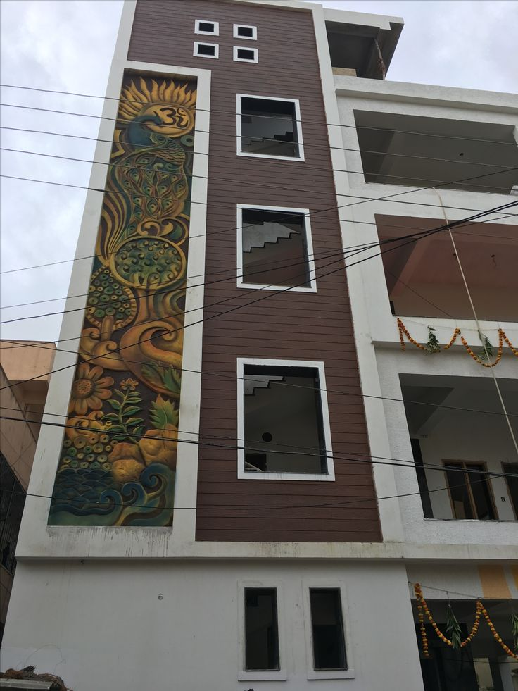 Cement Mural On Building Elevation By Akalp Mukim Www