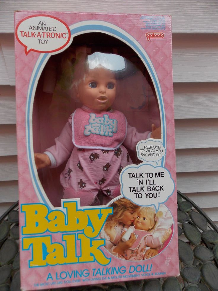 Vintage Rare MIB Baby Talk Doll by Galoob 1985 4506 NEVER