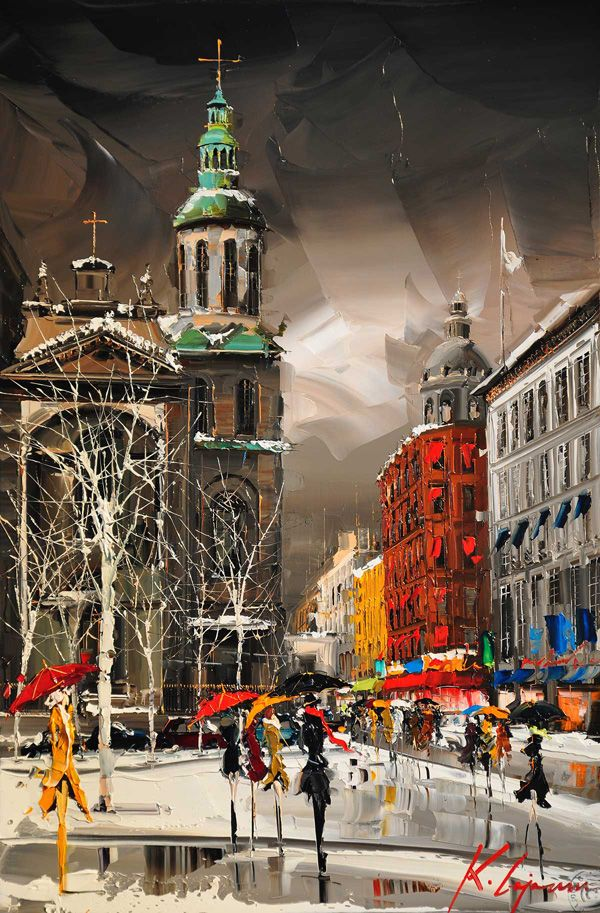 Cityscapes Paintings by Kal Gajoum