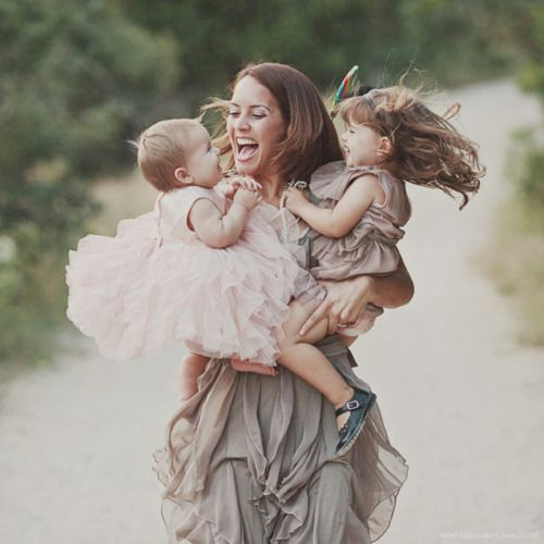 Aww! Wish I had one of me with some of my little ones like this...