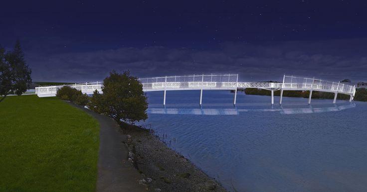 HB Architecture, Waiarohia Footbridge, Whangarei, New Zealand