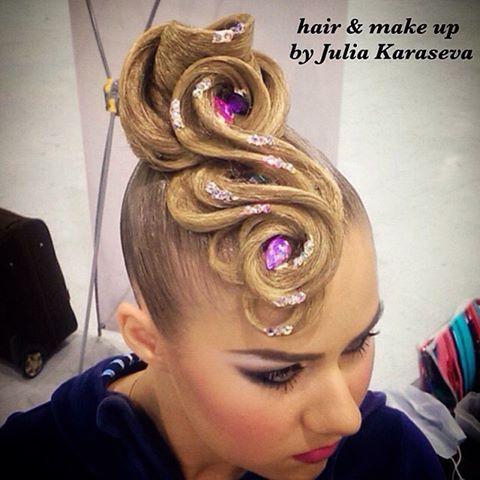 #hairdresser #dancehair #dancehairstyle #updo #juliakaraseva #ballroomdance #roc2016 #wdsf #прическадлятанцев #бальныетанцы #прическа